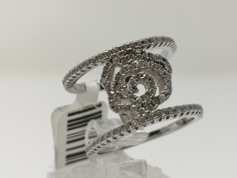 Silver CZ Ring Ladies 925