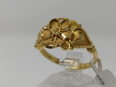 22ct Gold Ring Flower