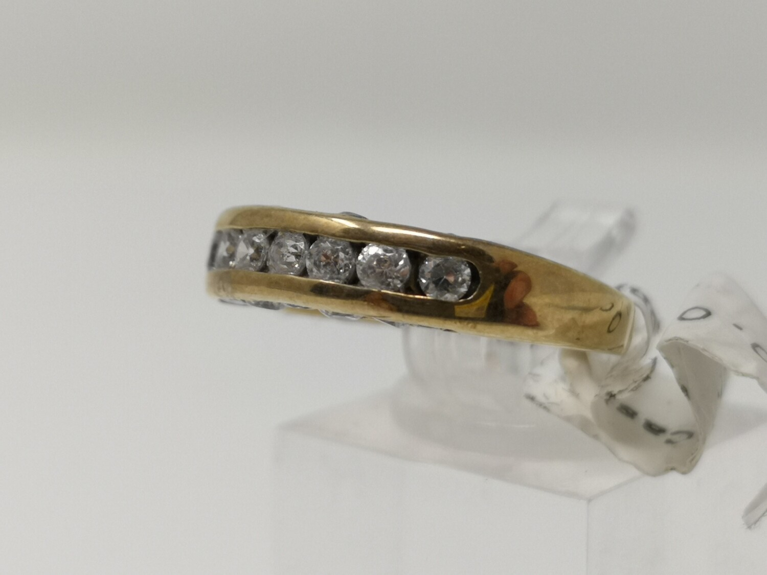 9ct Gold Ring Yellow Gold CZ 375