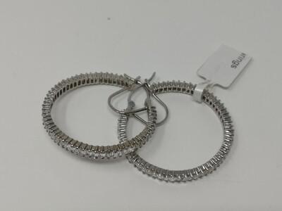9ct White Gold Earrings Hoop