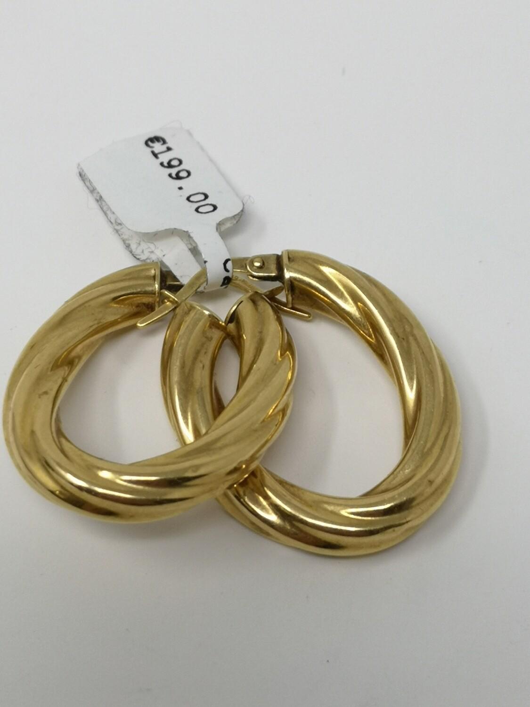 18ct Gold Earrings 750 Ladies