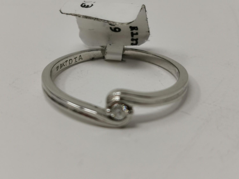 9ct White Gold Diamond Ring