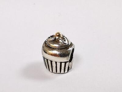 Genuine Pandora Charm Two Tone Cupcake