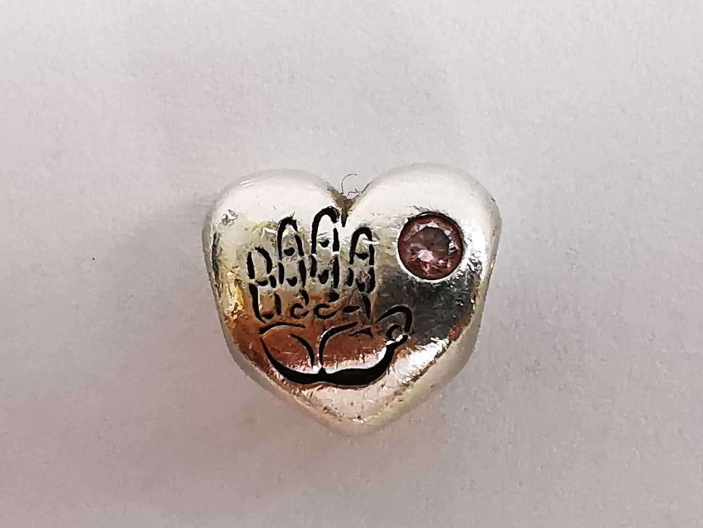 Silver Pandora Charm Heart ALE It's a girl