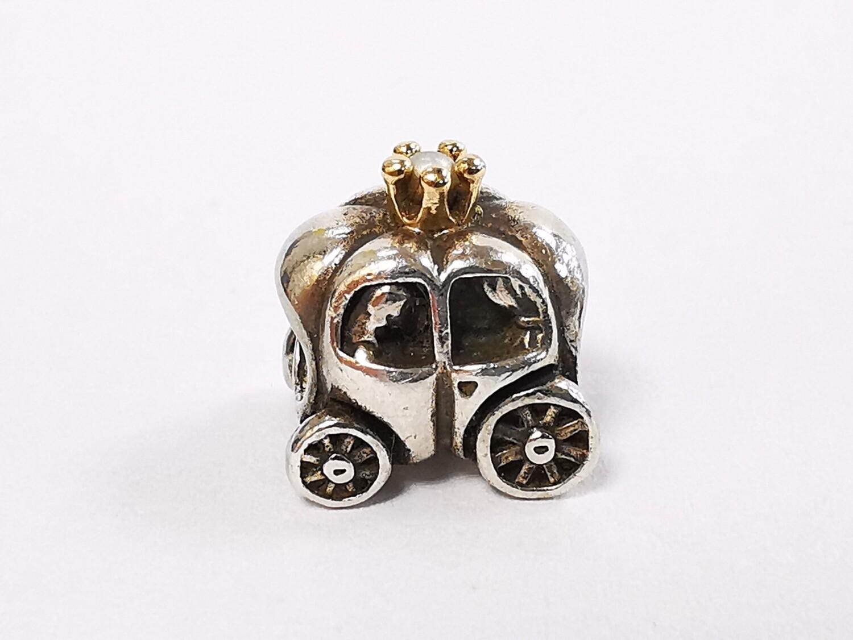 Pandora Charm Carriage Sliver Gold