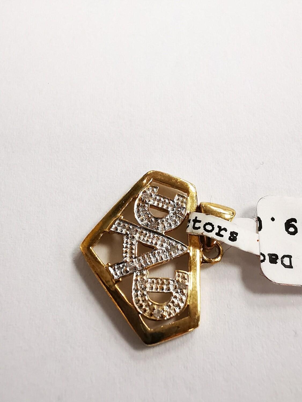 9ct Gold Diamond Dad Pendant