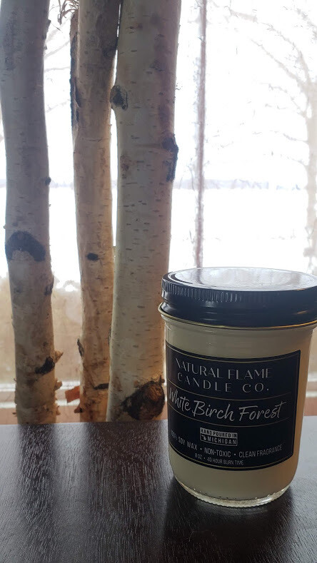 White Birch Forest 8 oz Jelly Jar