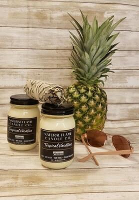 Tropical Vacation 16 oz Mason Jar