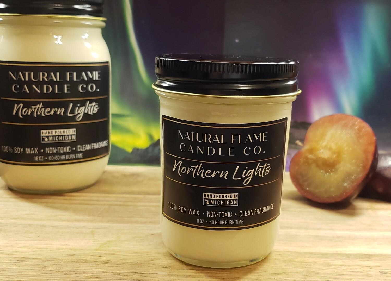 Northern Lights 8 oz jelly jar