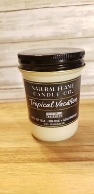 Tropical Vacation 8 oz jelly jar