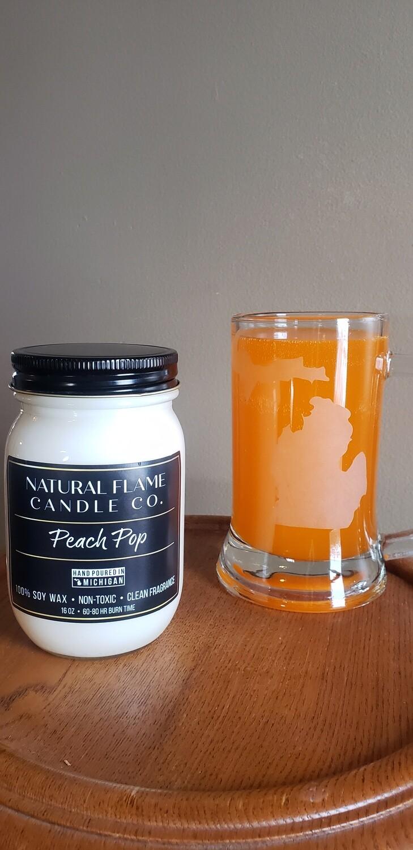 Peach Pop 16 oz jar