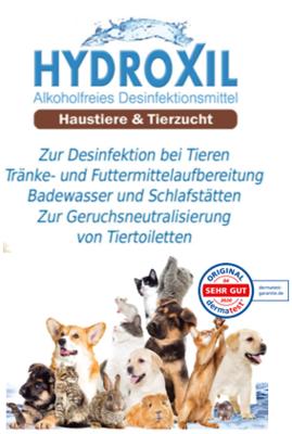 HYDROXIL für Tiere - 100ml bis 20 Ltr. Kanister ab