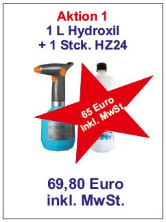 Akku-Handzerstäuber  + Hydroxil ab