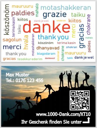 Dankesvisitenkarte