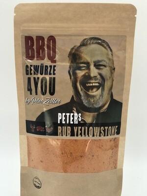 Peter´s Rub Yellowstone Grill Gewürz feurig & scharf mit Rohrzucker