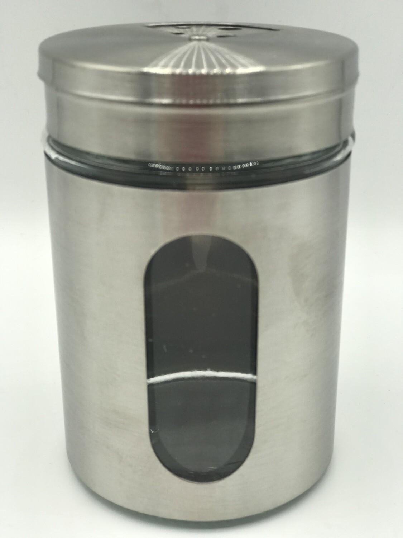 Grill Gewürz-Streuer Glas mit Edelstahl