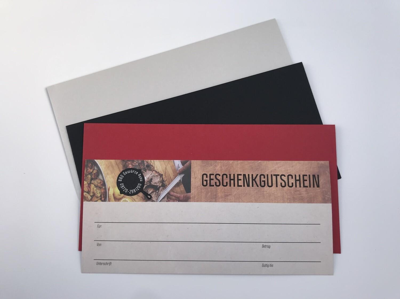 Geschenk Gutschein € 30