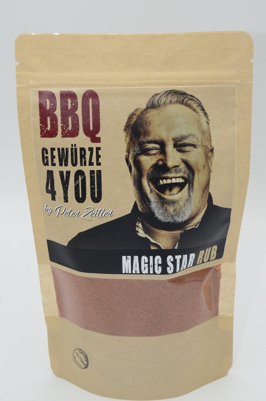 Peter Zeitler Magic Star Rub Grill Gewürz mit Jalapenos & Chili für Long Jobs