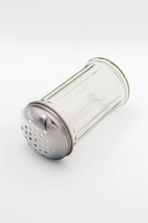 Gewürz-Streuer aus Glas 14 cm x 7 cm