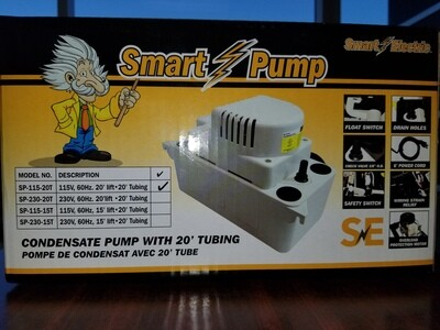 SMART ELECTRIC SP-115-20T CONDENSATE PUMP WITH 20' TUBE