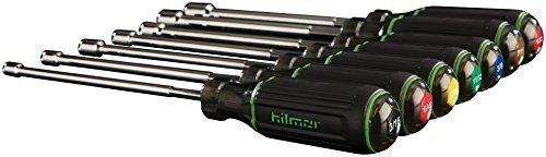 """Hilmor 1839075, 7 Piece Magnetic Nut Driver Set, 6"""" Shaft"""