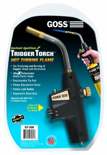 GOSS GP-600 Self-lighting hand torch for disposable cylinders