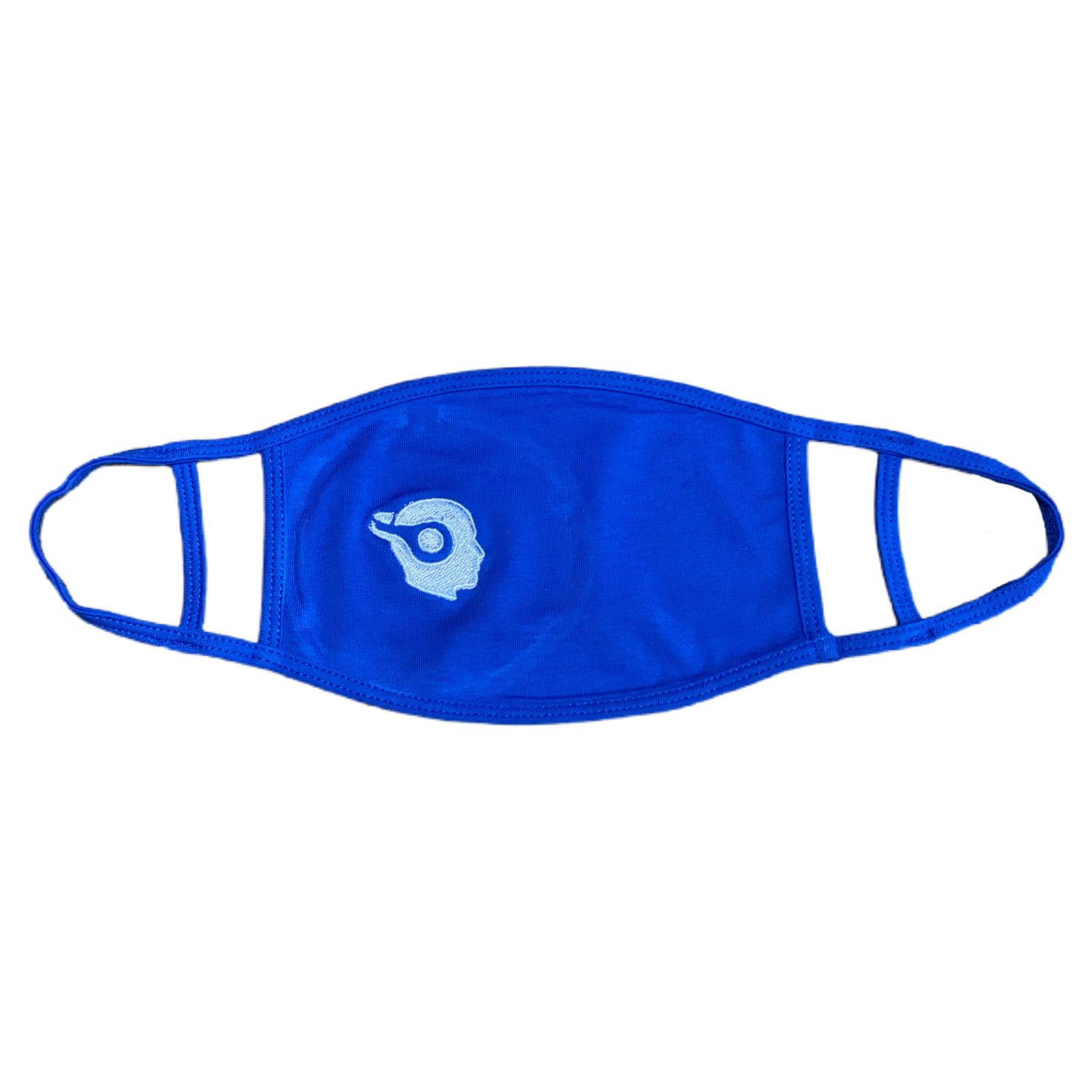 ROYAL BLUE - LIGHT BLUE LOGO - EMBROIDERED FACE MASK