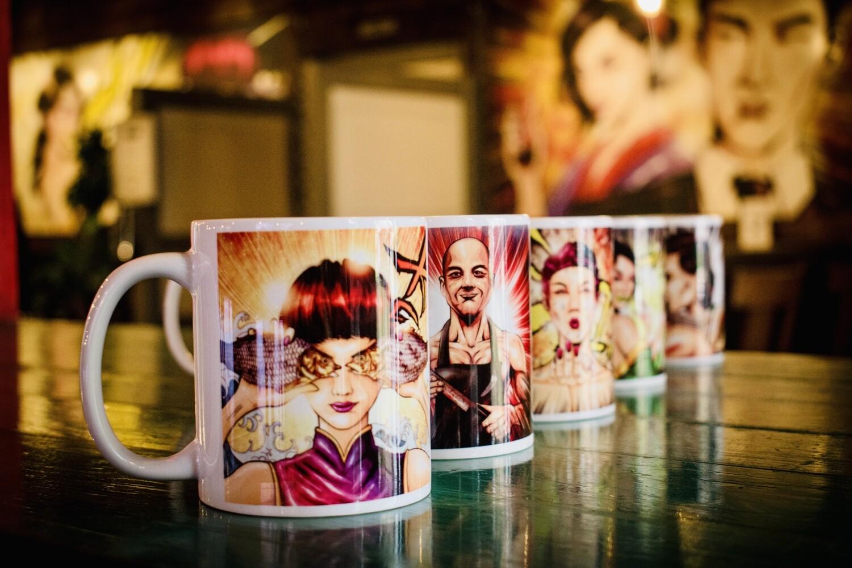 Set of 4 Manga Mugs