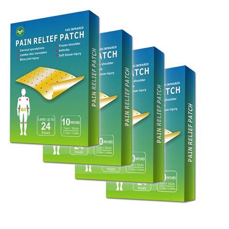 4er Fern-Infrarot Schmerzlinderungs-Pflaster 10 Pflaster 7cm x 10cm