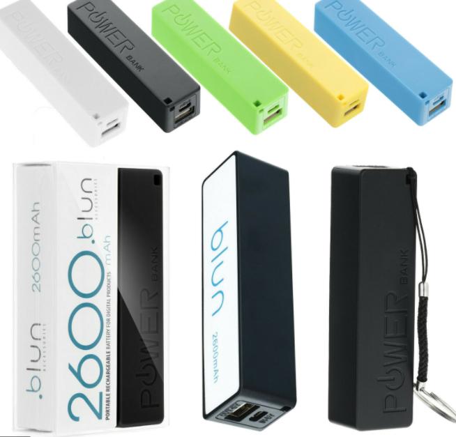 Power Bank Universel Batterie de secours 2600mAh Ultra-compacte Stick Blun