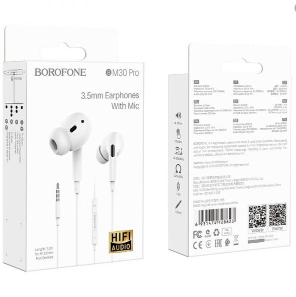 Écouteurs BOROFONE BM30 Pro Original avec micro