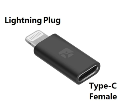 Adaptateur Charge + Synchronisation Lightning Femelle vers USB Type C