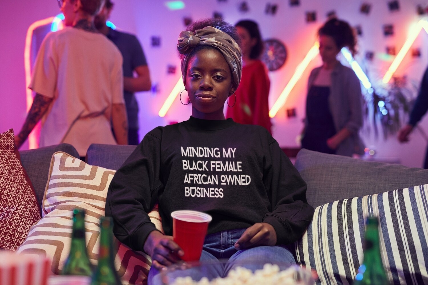 The 'Minding My Black Female African/Caribbean/ British Owned Business' Sweatshirt