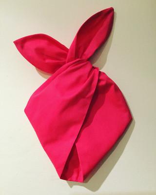 Plain cerise pink hairband