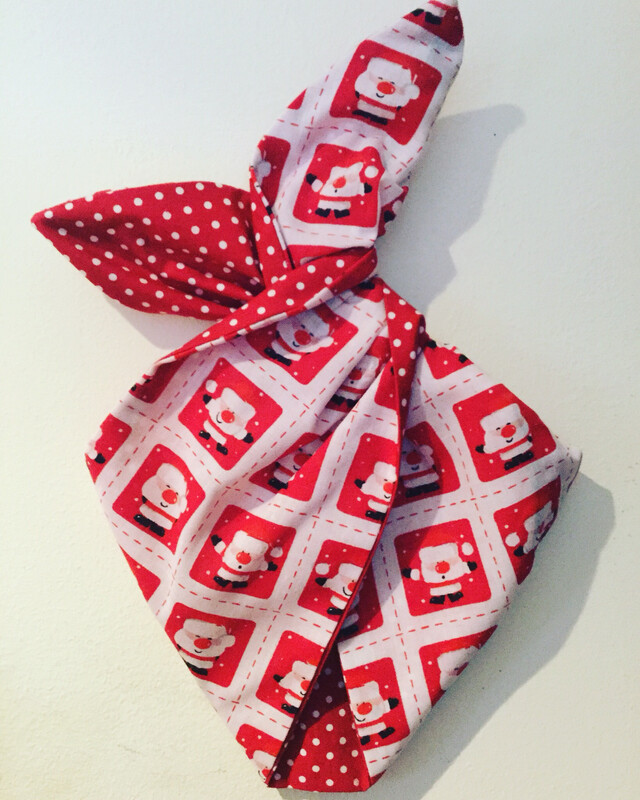 Girls Red Santa Stamps Wired Hairband