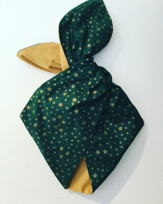 Green And Gold Stars Wired Hairband