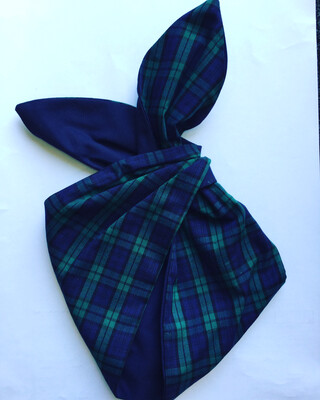 Green And Navy Tartan BeBop With Navy Reverse