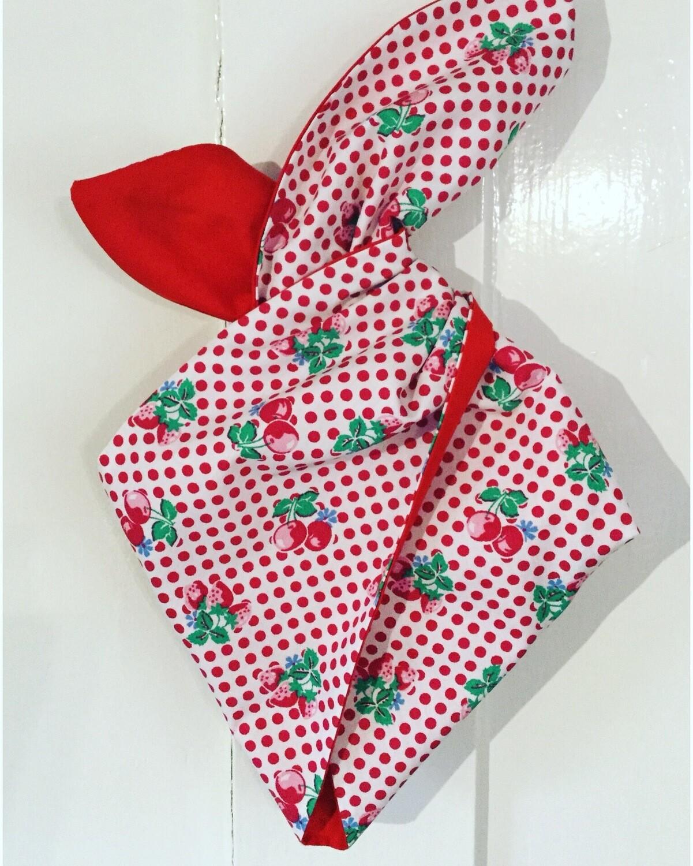 Little Girl Cherry Polka Wired Hairband