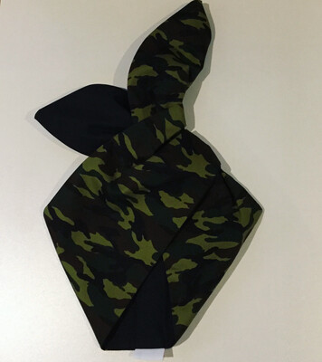 Camouflage and plain blk wired hairband
