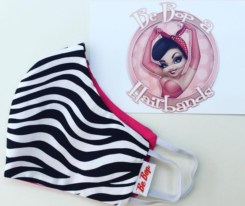 Zebra With Hot Pink Reversible Face Mask