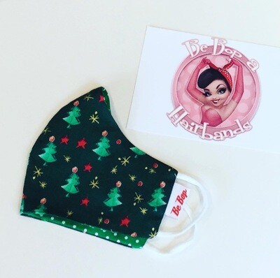 Mini Christmas Tree Reversible Face Mask