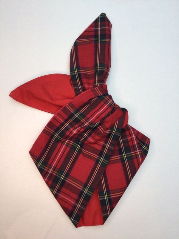 Little Girls Red Tartan Wired Hairband