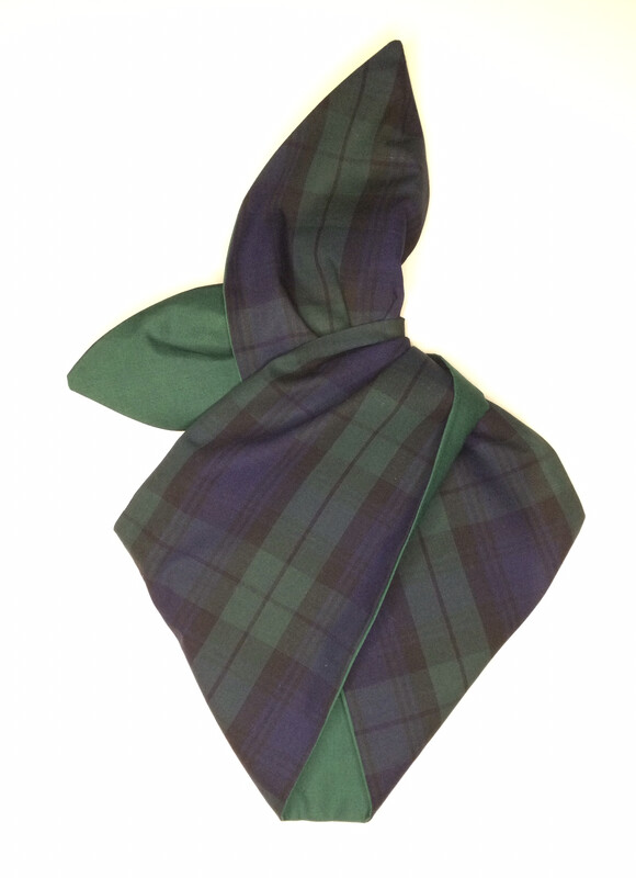 Green/navy tartan With Green wired hairband