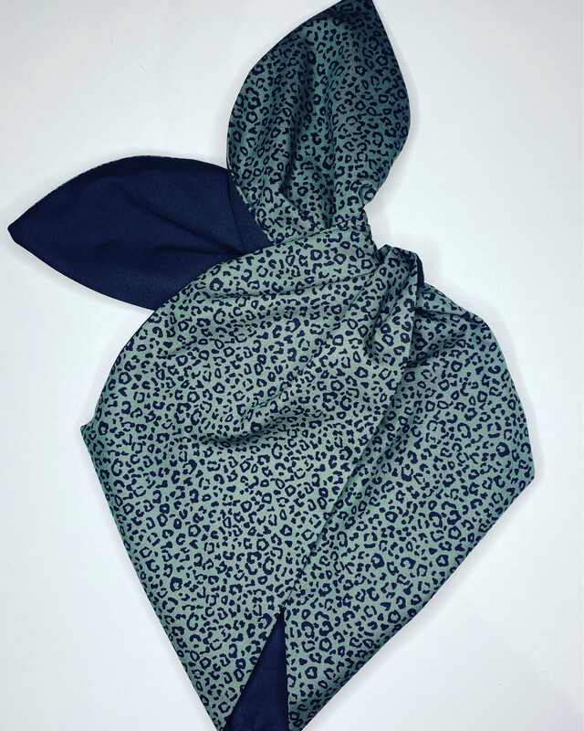 Khaki Leopard Print  With Black Hairband