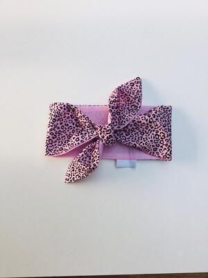 Baby Pink Animal Print Baby Bebop headwrap