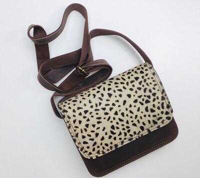 Crossbody Animal Spot Leather Bag