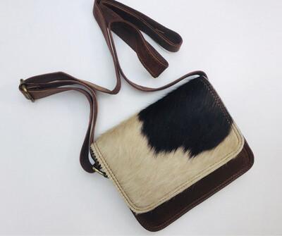 Crossbody Animal Skin And Leather Bag