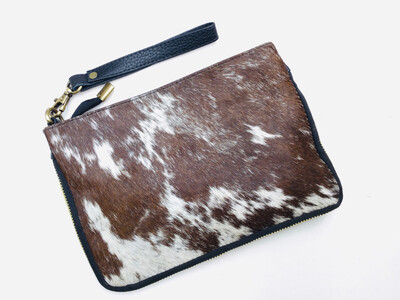 Animal Skin Zip Design Handbag