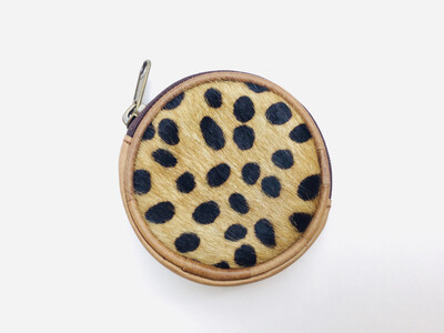 Animal Skin And Leather Coin Purse