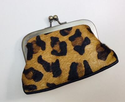 Animal Skin Clip Purse